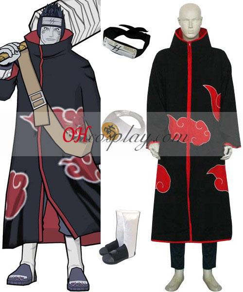 Naruto Akatsuki Hoshigaki Kisame Deluxe Cosplay kostym Set