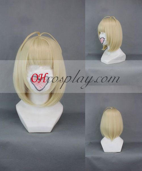 Ao food items Exorcist Moriyama Shiemi Yellow Cosplay Wig