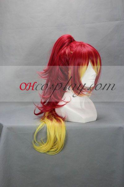 Ao № Exorcist Kilikaku Yula червено Cosplay Wig