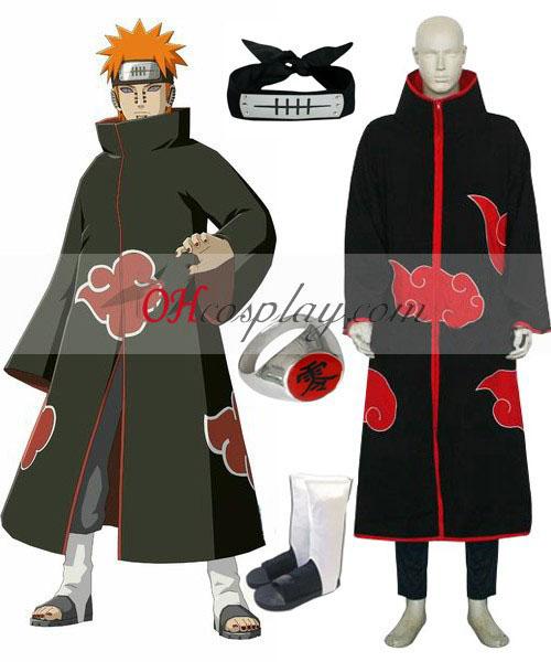 Naruto Akatsuki Pijn (Pein) Deluxe Cosplay Kostuum Set