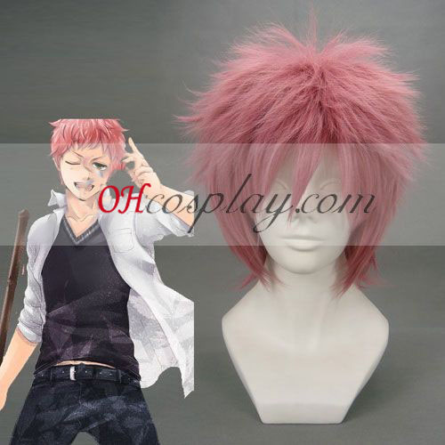 Ao don't you i believe Exorcist Shima Renzou Pink Cosplay Wig