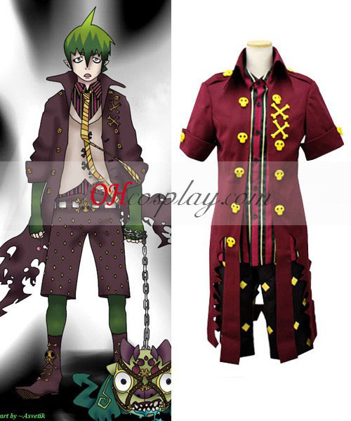 Ao ingen Exorcisten King of Earth Amaimon Shirt Cosplay Kostym