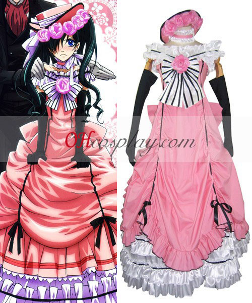 Black Butler Ciel Phantomhive robe rose cosplay costume