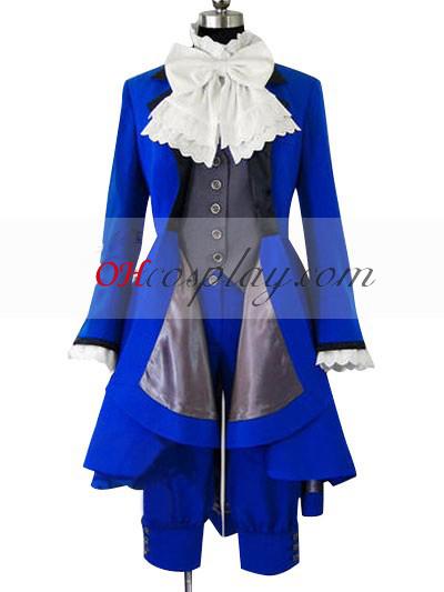 Black Butler Ciel Phantomhive Blå udklædning Kostume