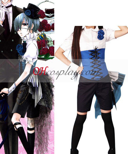 Black Butler Ciel Phantomhive Short Shirt Cosplay Kostüme