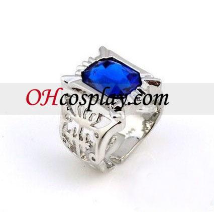 Черен Бътлър Cosplay Сапфирен пръстен