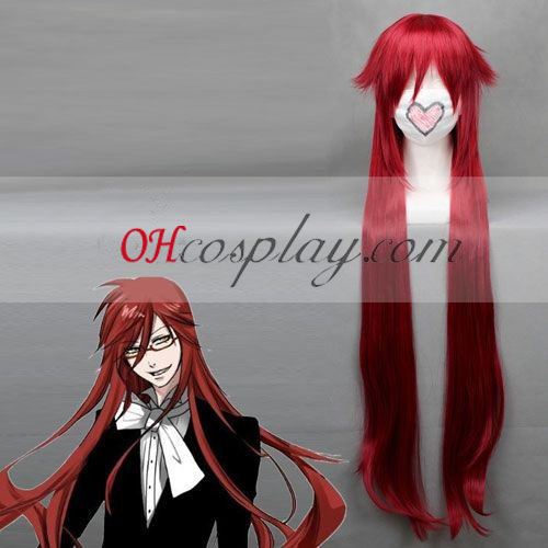 Black Butler Grell Sutcliff Red Cosplay Pruik