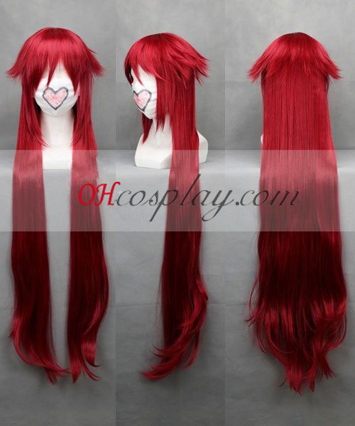 Black Butler Grell Sutcliff Red udklædning Paryk