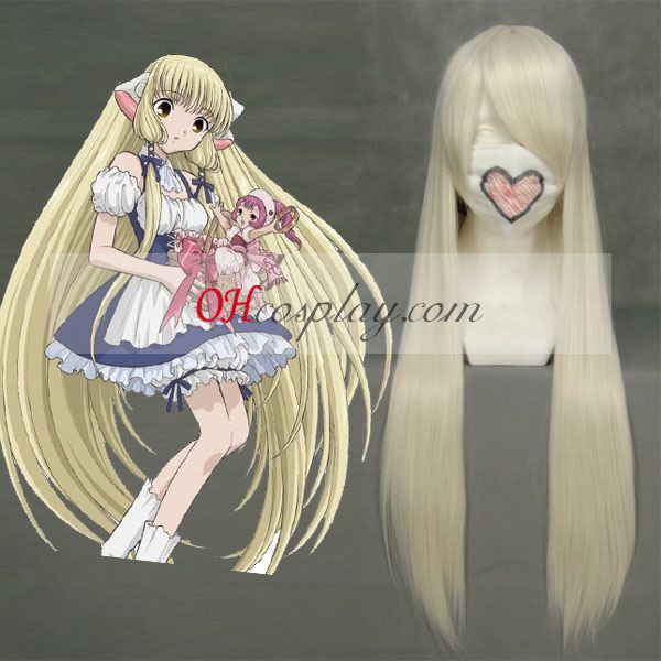 Chobits Chii Light Yellow Cosplay Wig