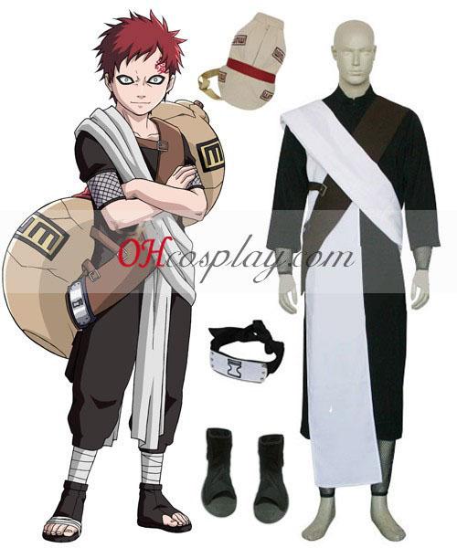 Naruto Gaara Chunin Exam 1. udklædning Kostume