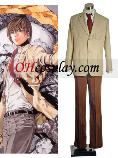 Morte Nota Light Yagami Cosplay Traje