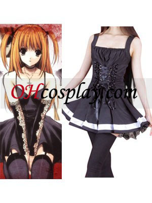 Dood Opmerking Amane balck De Misa Cosplay dress Costume