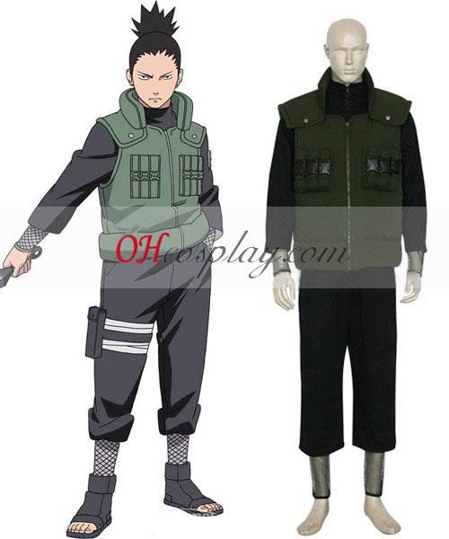Naruto Shippuden Nara Shikamaru Middle Ninja udklædning Kostume