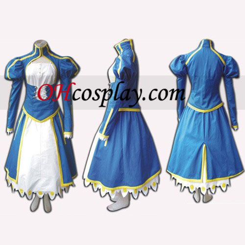 Saber Cosplay Costume caused by Fate Stay Night