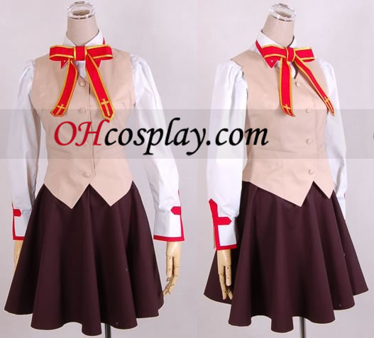 Fate Stay Night School Girl tasainen kuin kohtalo Stay Night