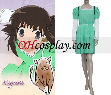 Fruits Basket Kagura Cosplay Kostym Sohm