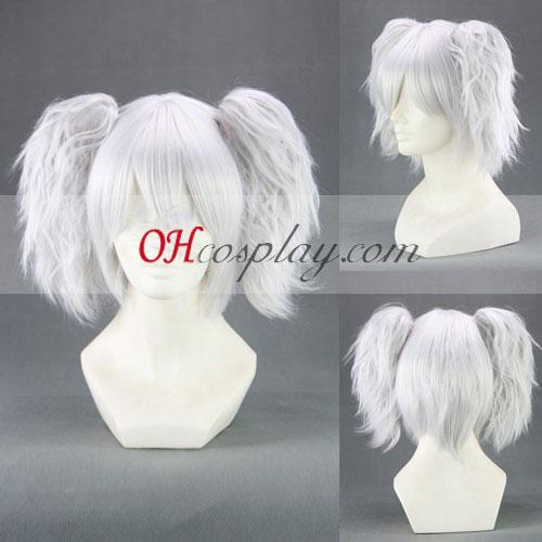 Gintama Sakata Gintoki бяла Cosplay Wig
