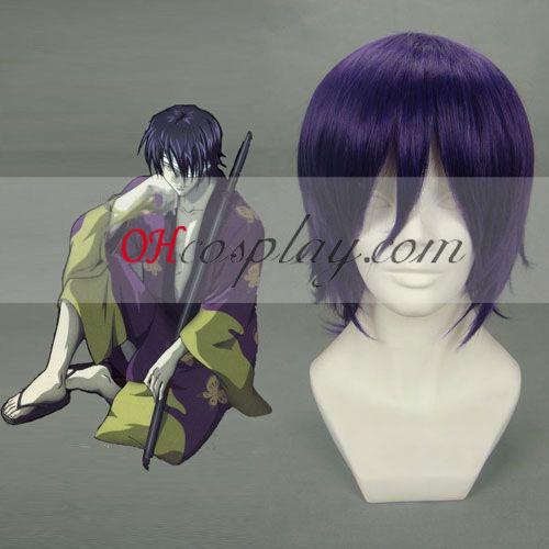 Gintama Takasugi Shinsuke Vijolična Cosplay lasuljo
