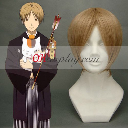 Gintama Okita Sougo Light Brown peluca cosplay