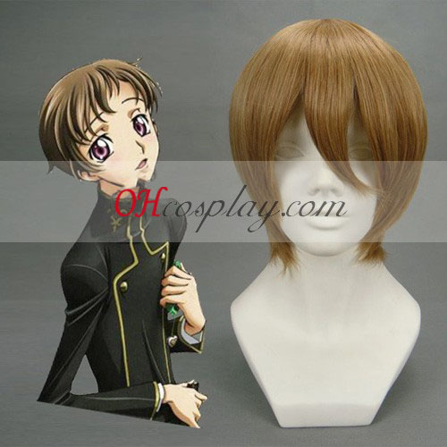 Gintama Okita Sougo Brown Cosplay Wig