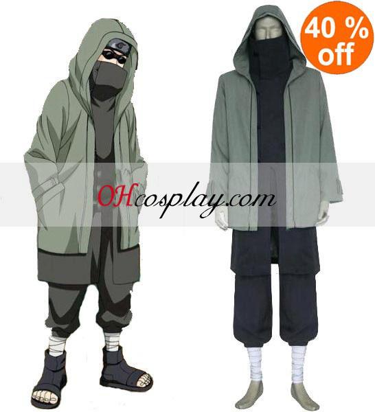 Naruto Shippuden Shino Aburame menn Cosplay kostyme