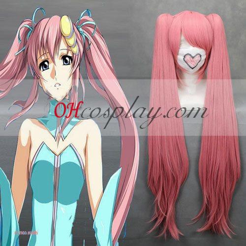 Gundam семена Lacus Clyne розов Cosplay Wig