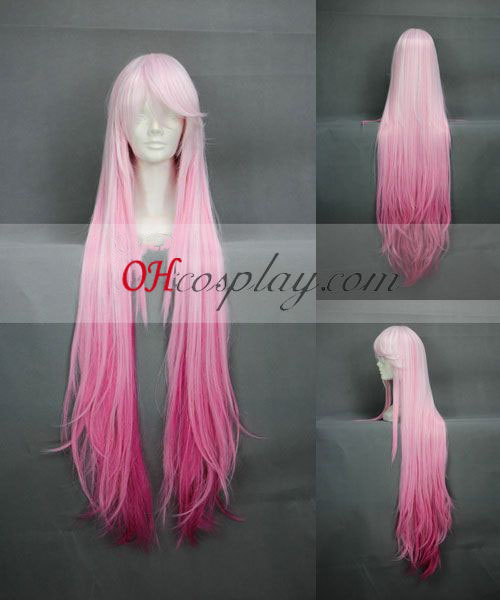 Guitly Crown Yuzuriha Inori Roze Cosplay Pruik met lang