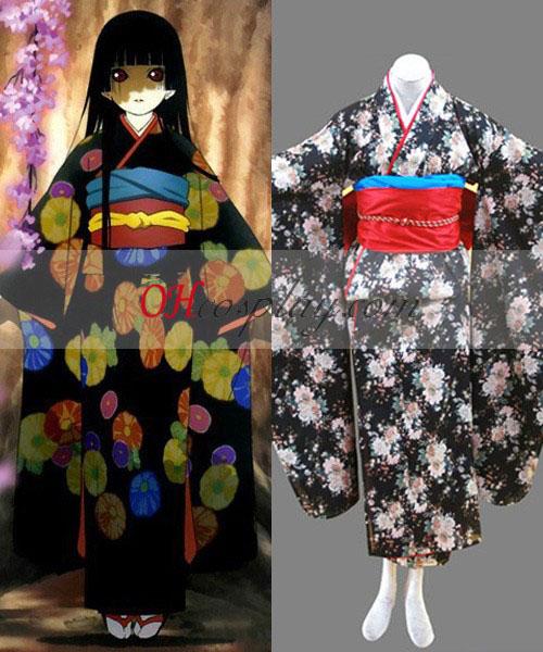 Hell Girl Ai Enma Cosplay Kostym Kimono