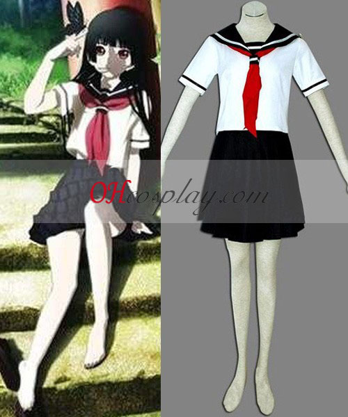 Hell Girl Ai Enma Blanco cosplay uniforme