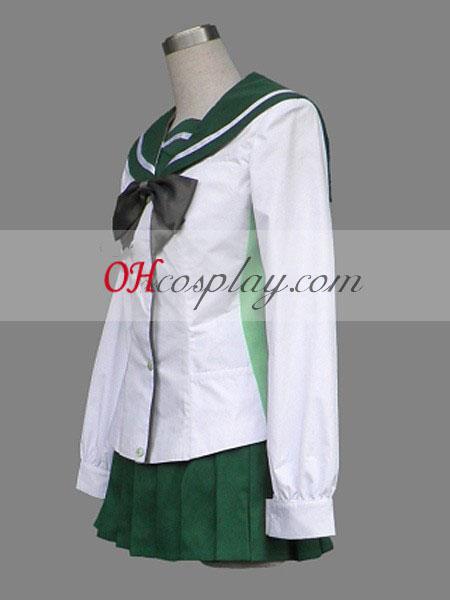 בית ספר המתים miyamoto ראי תלבושת אחידה קוספליי בגד ים