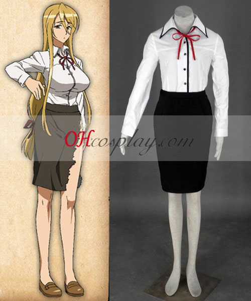 High School of the Dead Marikawa Shizuka Cosplay Kostym