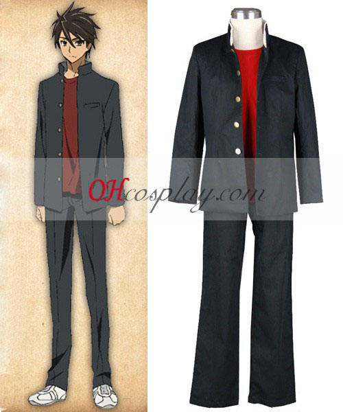 High School of the Dead Takashi Komuro skoluniform Cosplay Kostym
