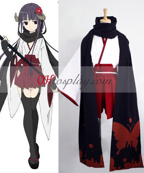 Inu x Boku SS Ririchiyo Shirakiin Witch udklædning Kostume