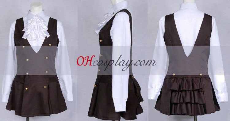 Inu x Boku SS Ririchiyo Shirakiin Uniform udklædning Kostume
