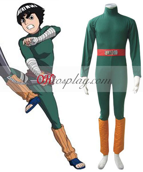 Naruto Chunin-kokeen Rock Lee 1. Cosplay asu