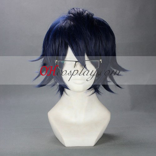 Fushimi K Salomuko Dark Blue Cosplay Pruik