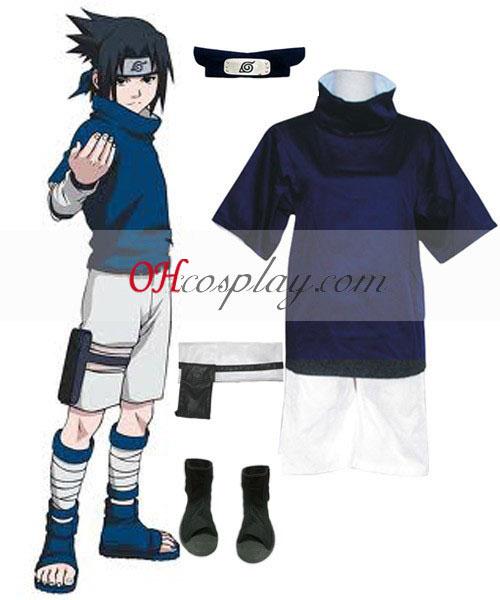 Naruto Uchiha Sasuke Chunin izpit Cosplay kostumov