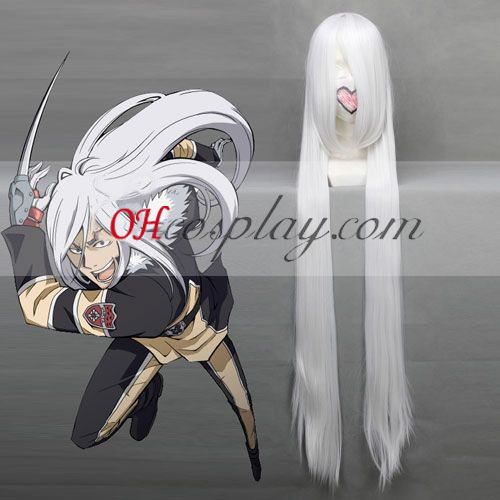 Hitman Reborn! Superbia Squalo Witte Cosplay Wig