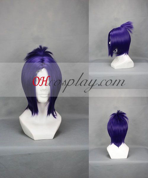 Hitman Reborn! Vongola Chrome Dokuro udklædning Purple Paryk