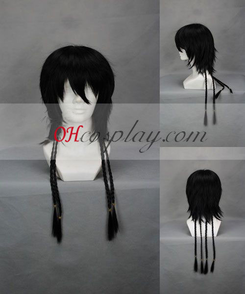 Hitman Reborn! Lambo After 20Y Black Cosplay Wig
