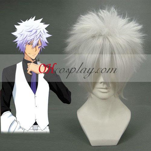 Hitman Reborn Byakuran Silvery White Cosplay Wig Australia