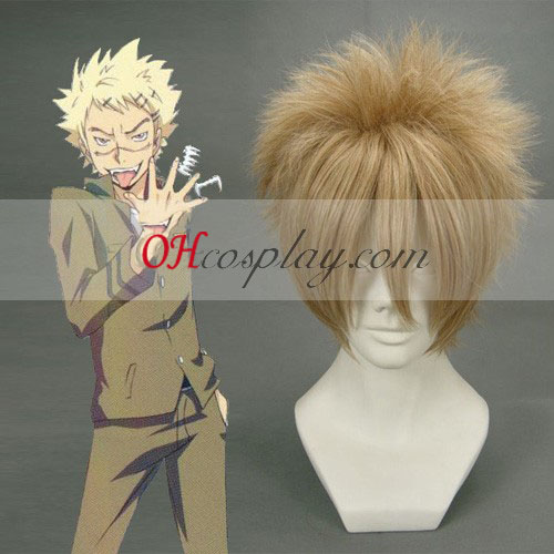 Hitman Reborn Joushima Ken Light Brown peluca cosplay