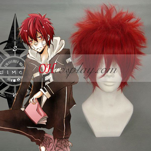 Hitman Reborn Kozato Enma Cosplay Pruik Wine Red