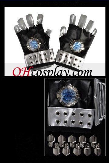 Katekyo Hitman Reborn Kokuyo Gang Cosplay Blue PU Metal Gloves