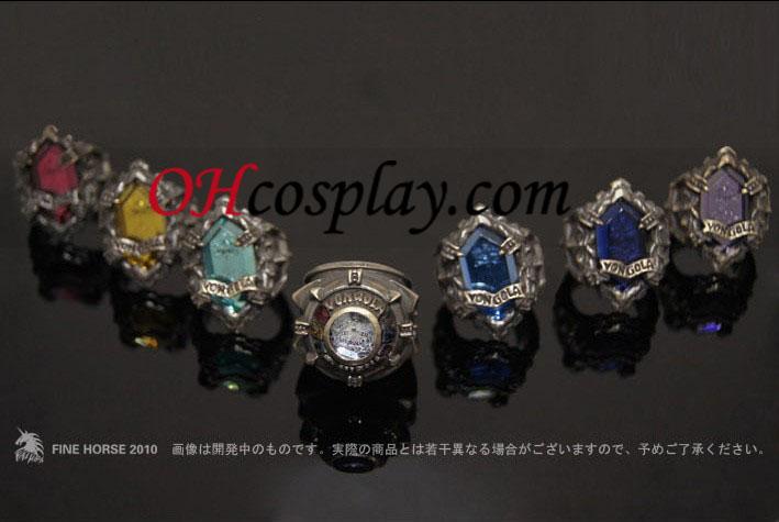 Katekyo Hitman Reborn Hibari Kyoya udklædning Vongola Cloud Ring - Premium Editon