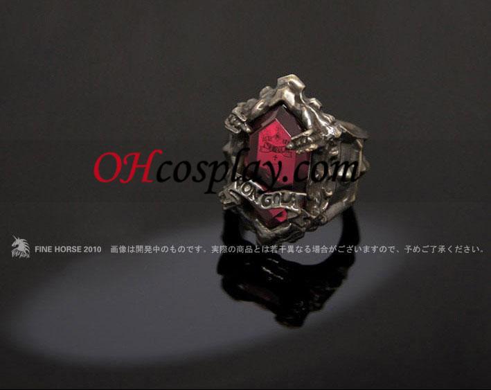 Katekyo Hitman Reborn Gokudera Hayato Cosplay Trattoria Vongola Arashi Ring - Premium Editon