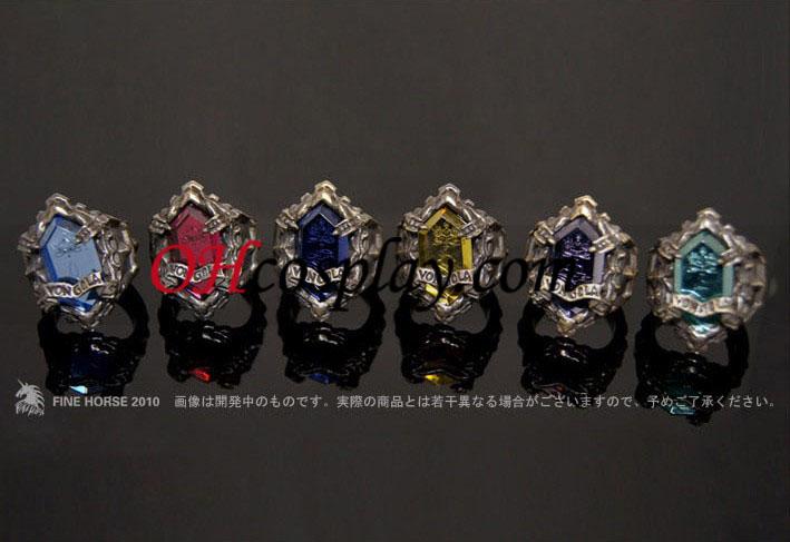 אקדחן hayato gokudera katekyo שקמה לתחיה קוספליי vongola arashi טבעת - Premium editon