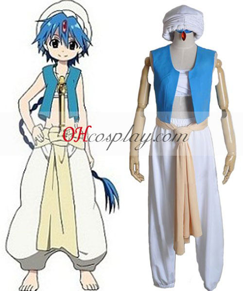 Het Labyrint van Magic MAGI Aladdin Cosplay Kostuum