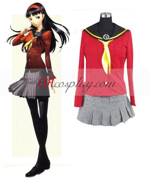 Persona 4 Yukiko Amagi σχολείο ενιαίο Κοστούμια Cosplay