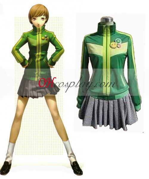Persona 4 chie Zelená Cosplay kroj